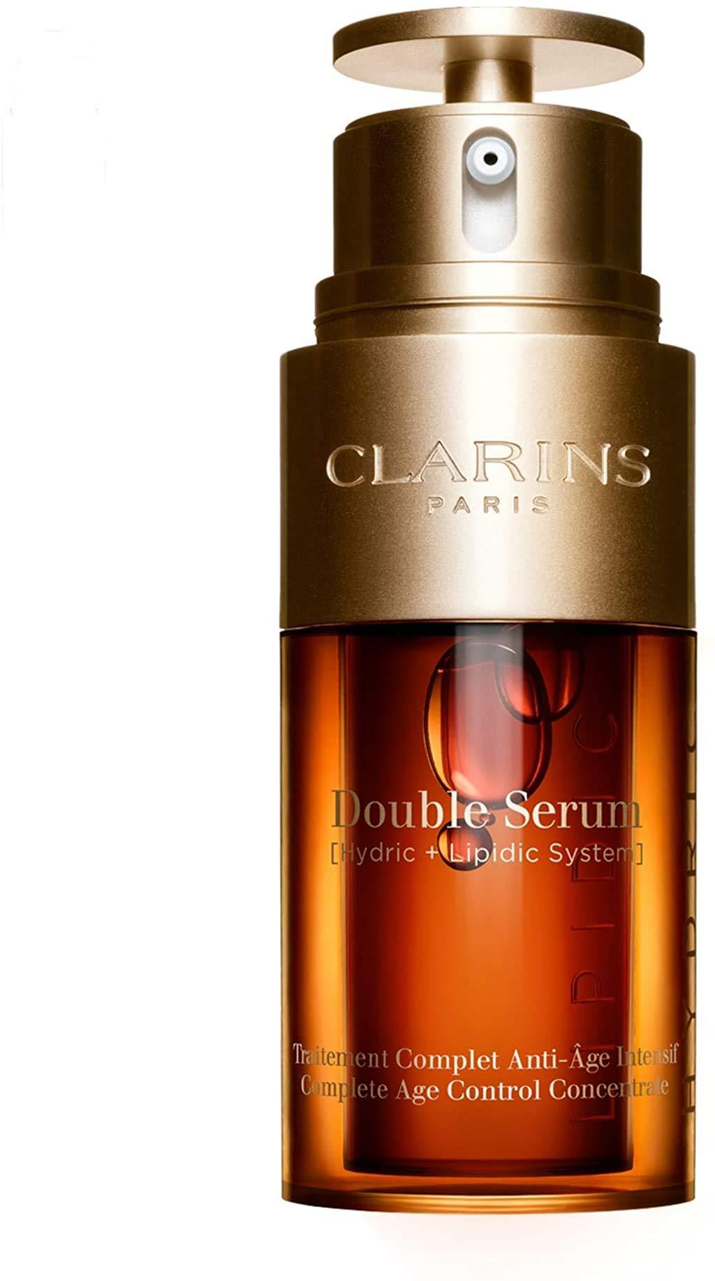 Clarins Double Serum Anti-aging, Clear, 1 Fl Oz