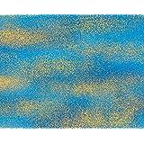 Fat Quarter Lair of The Dragon Blue Haze Cotton Quilting Fabric Kona Bay