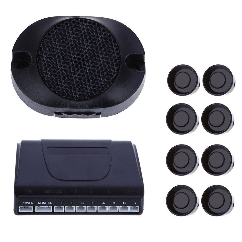 8 Sensors Car Parking Sensor Auto Reverse Rear Assistance Backup Park Radar Buzzer Alarm Kit Monitor System Car Alarm