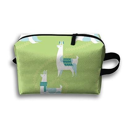 SO27Tracvel Llama Dance Pattern Green Toiletry Bag Dopp Kit Tactical Bag Accessories Travel Case
