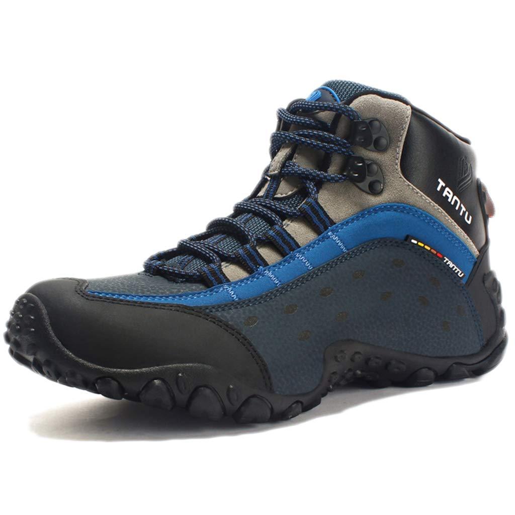 Nihiug Wanderschuhe Männer Wasserdichte Wanderschuhe Leder Trekking Herbst Winter Leder Outdoor hohe warme Bergsteigen Schuhe