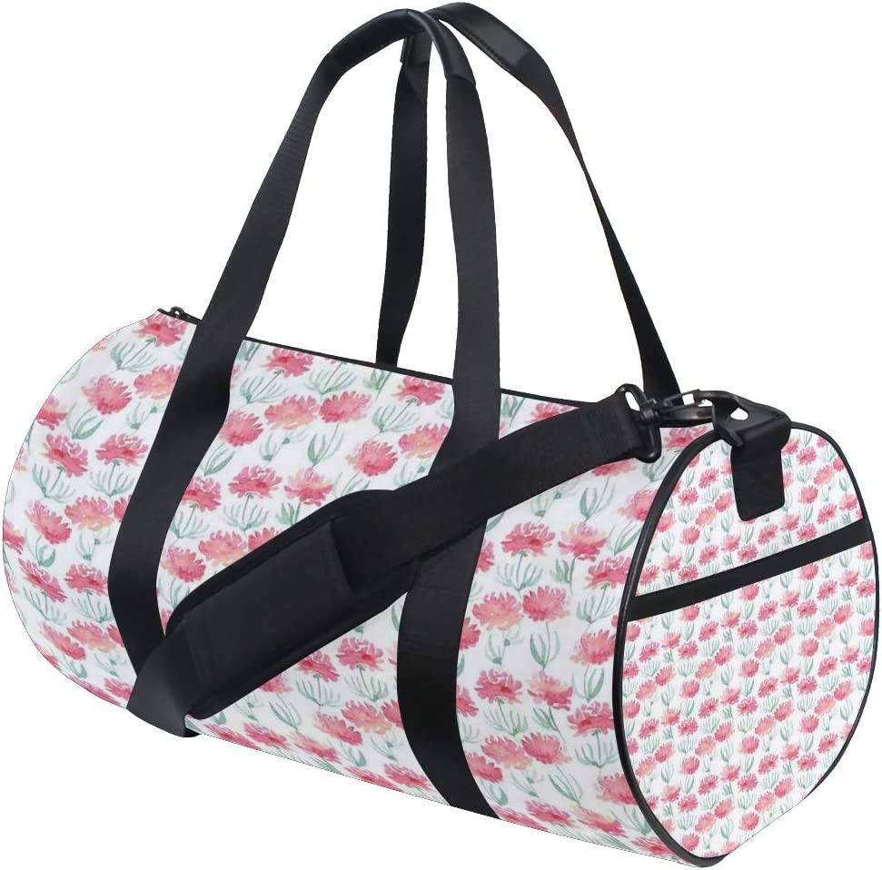 Flower Blossoms Personalization Custom Gym Bag