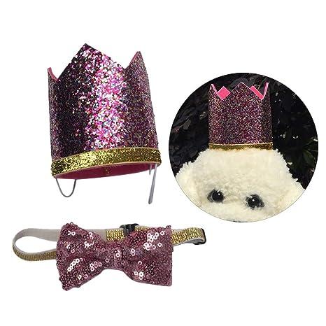 Balacoo Sombrero de Cumpleaños para Perros Gatos con Bowknot ...
