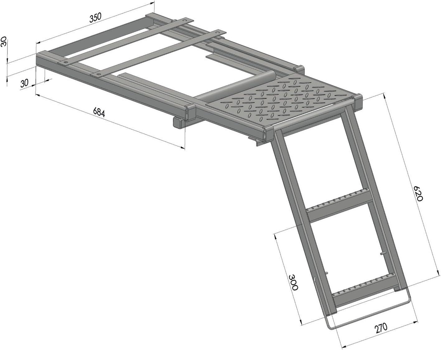 Escalera podio niveles galvanizado Chapa colgante Camiones: Amazon.es: Bricolaje y herramientas