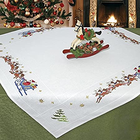Stylish Stitch Kit Funny Sleigh Ride With Santa And His Reindeer