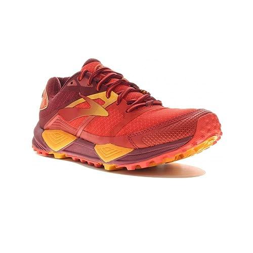 Brooks - Zapatillas para Correr en Montaña de Sintético para Mujer Rojo Scarlet/Orange, Color Rojo, Talla 38 EU: Amazon.es: Zapatos y complementos