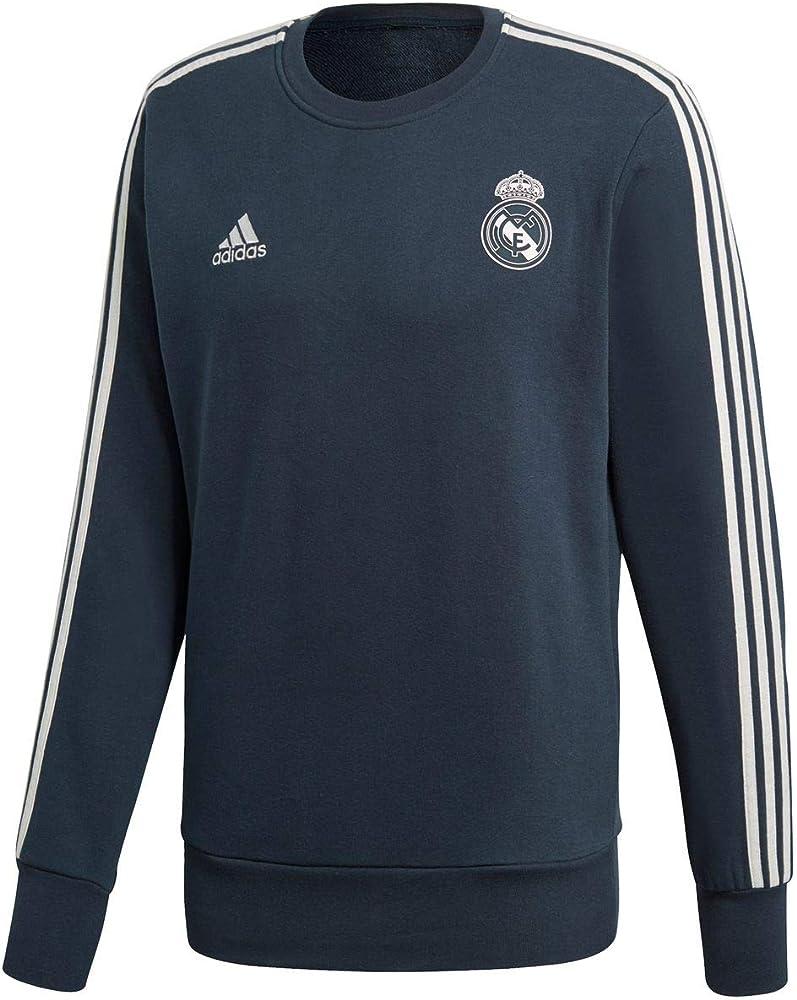 adidas Real Madrid Sweat Top Sudadera, Hombre, Tech Onix/Core ...