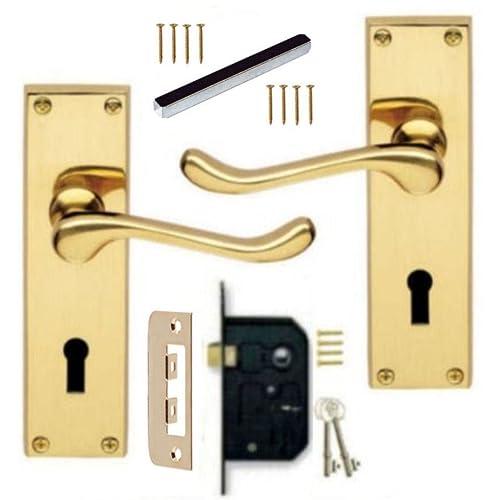 brass door handles uk amazon co uk