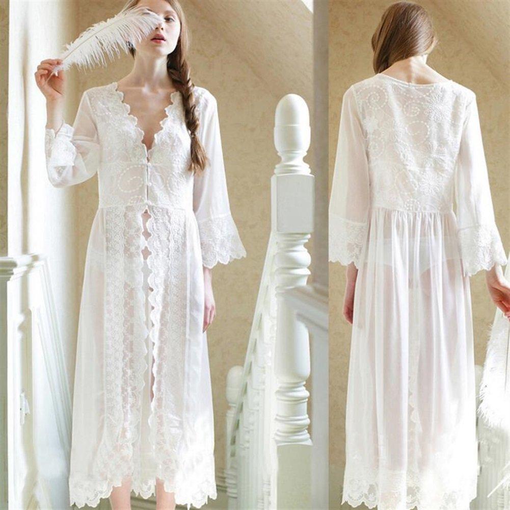SUxian - Camisón de Encaje de Mujer camisón de Mujer Embarazada Pijama camisón Bata: Amazon.es: Hogar