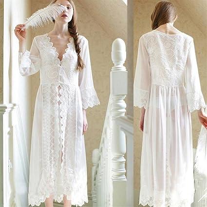 SUxian - Camisón de Encaje de Mujer camisón de Mujer Embarazada Pijama camisón Bata