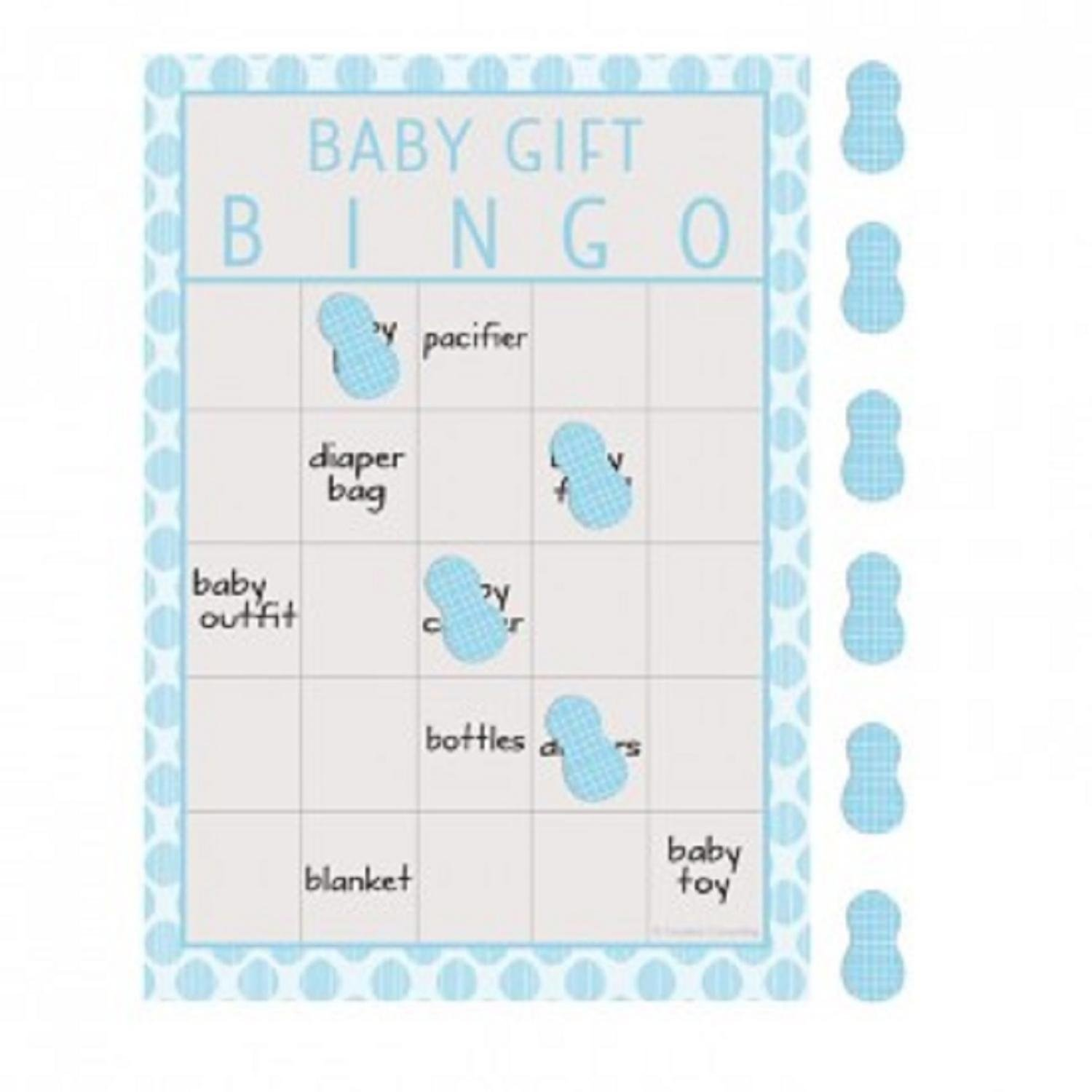 Christmas Central Pack of 60 Baby Blue and Gray Little Peanut Baby Gift Boy Baby Shower Bingo Game 8.5'' by Christmas Central