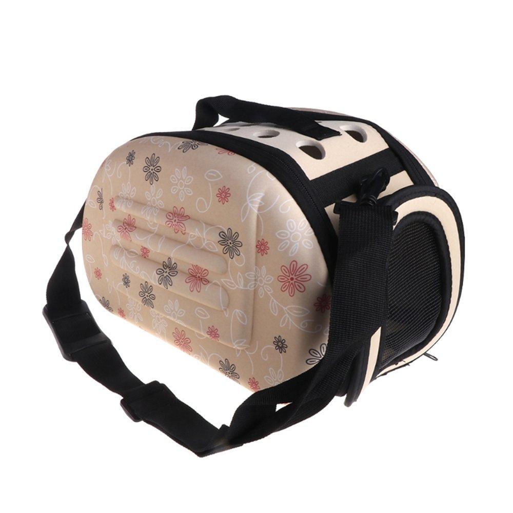Apricot S 302220cm Apricot S 302220cm Collapsible Pet Carry Backpack Outdoor Travel Shoulder Bag Keep Your Pet Calm Safe S-L(Apricot)