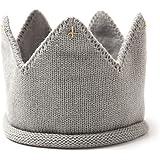 TOYMYTOY Baby Strickmütze Krone Mütze warme Winter Knit Stirnband Nette Fotografie Prop Kappen Hut (Grau)