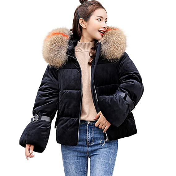 9361240afc93 Moonuy Ladies Coat Women Thick Outerwear Women Solid Warm Thicker Winter Slim  Warm Collar Coat Paragraph