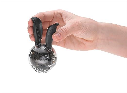 Centimeters Negro Chefn Mini Magnetic Set Salero//Pimentero Chefn 27491 Transparente