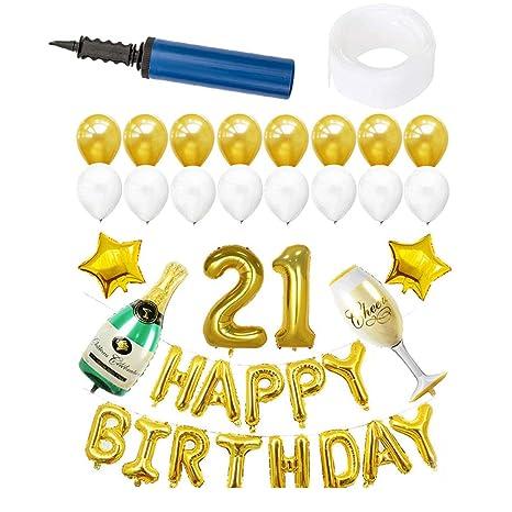 Decoraciones de cumpleaños, 25 Piezas con inflado de Papel ...