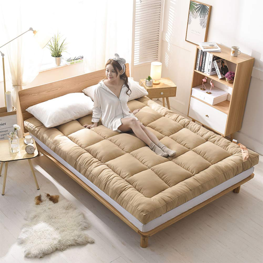 D 150x200cm(59x79inch) Warm Thick Lambs Mattress,Breathable Single Double Tatami Mattress,Suitable Student Dormitory Family Room-B 180x200cm(71x79inch)