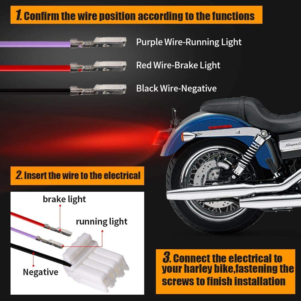 4WD FANS Smoked LED Tail Light for Harley Davidson Motorcycle Sportster 1200 Dyna Road King Electra Glide Street Bob Touring
