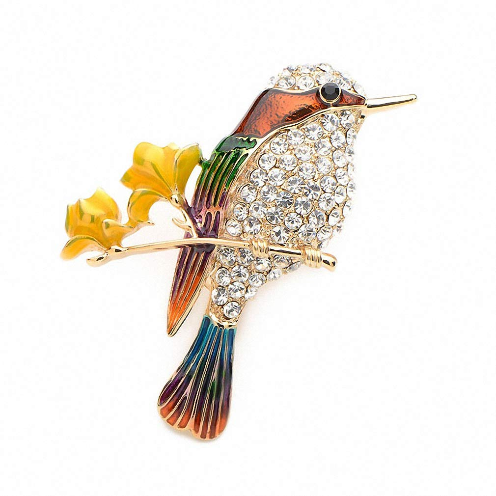 Jana Winkle Rhinestone Bird Enamel Brooches Alloy Lovely Animal Party Weddings Banquet Brooches Red
