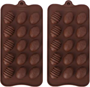 HEMOTON 2pcs Easter Egg Shaped Silicone Cake Mold, DIY Chocolate Candy Mold with Cute Rabbit Shape Cover for Easter Dessert, Handmade Soap, Cake, Ice Cube Trays Baking Molds