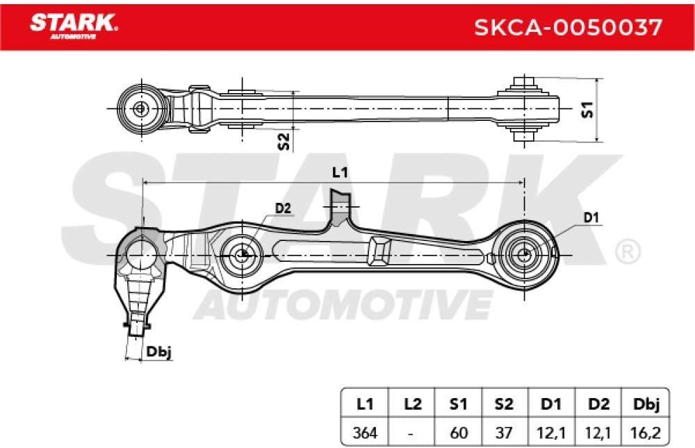 Stark SKCA-0050037 Guidon de suspension /à suspension triangulaire /à lavant et /à lavant