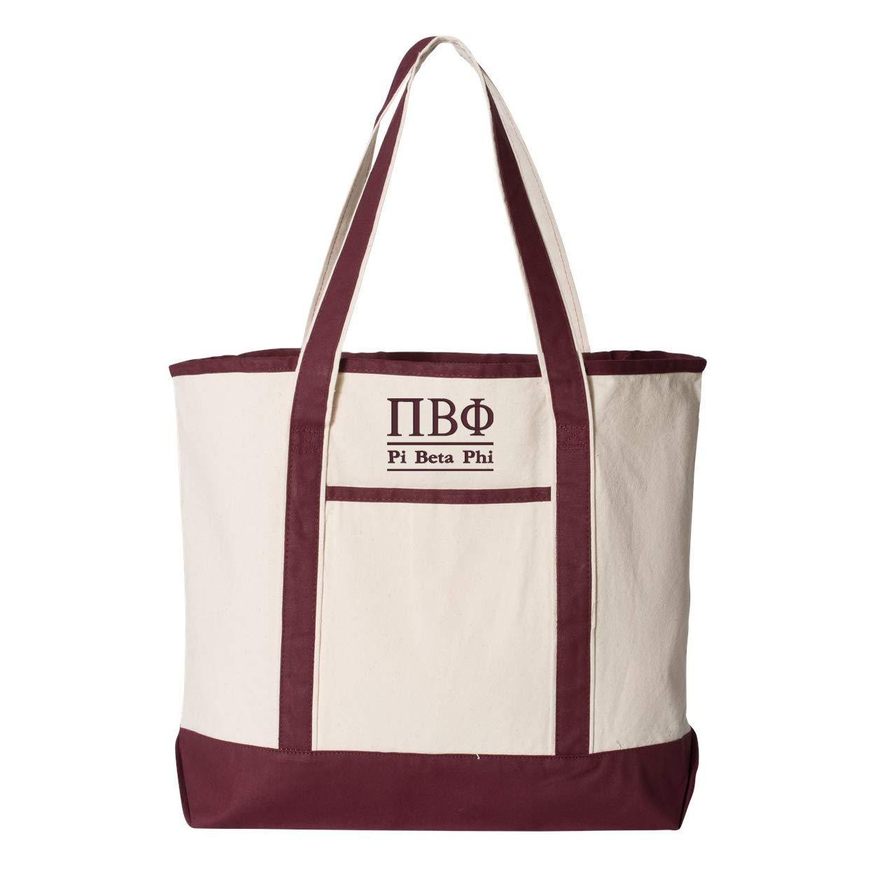 Pi Beta Phi Large Canvas Tote Bag