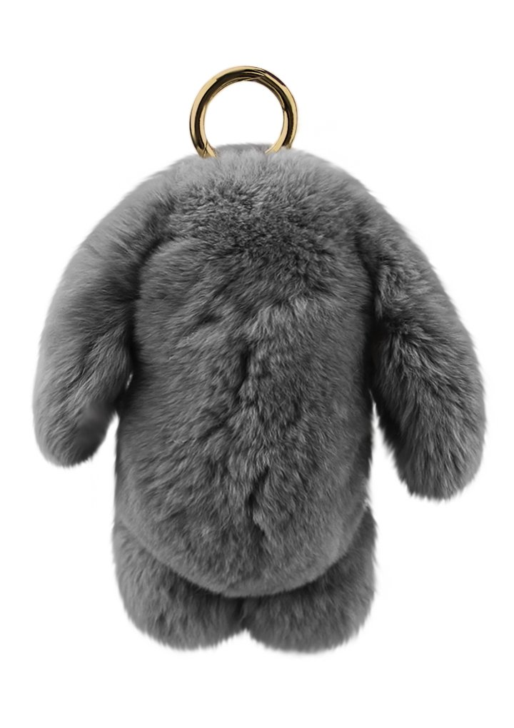 Cute Fluffy Rabbit Bunny Fur Keychain for Women Girls Pom Pom Car Key Chain Soft Plush Doll Ball Keyring Toy Handbag Purse Bag Cellphone Key Holder Charms Ring Decor Pendant Ornament Christmas Gifts by BXT (Image #4)