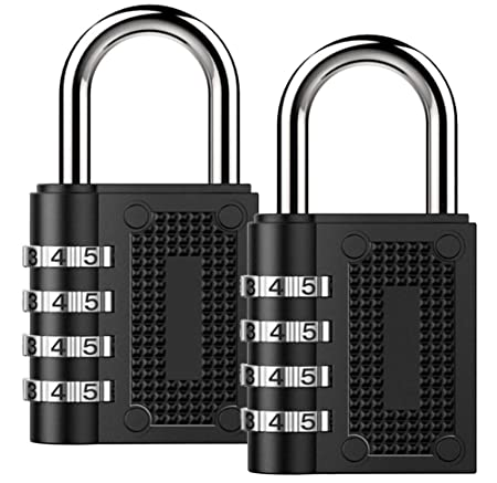 combination lock beskoohome security padlock 2 pack weather