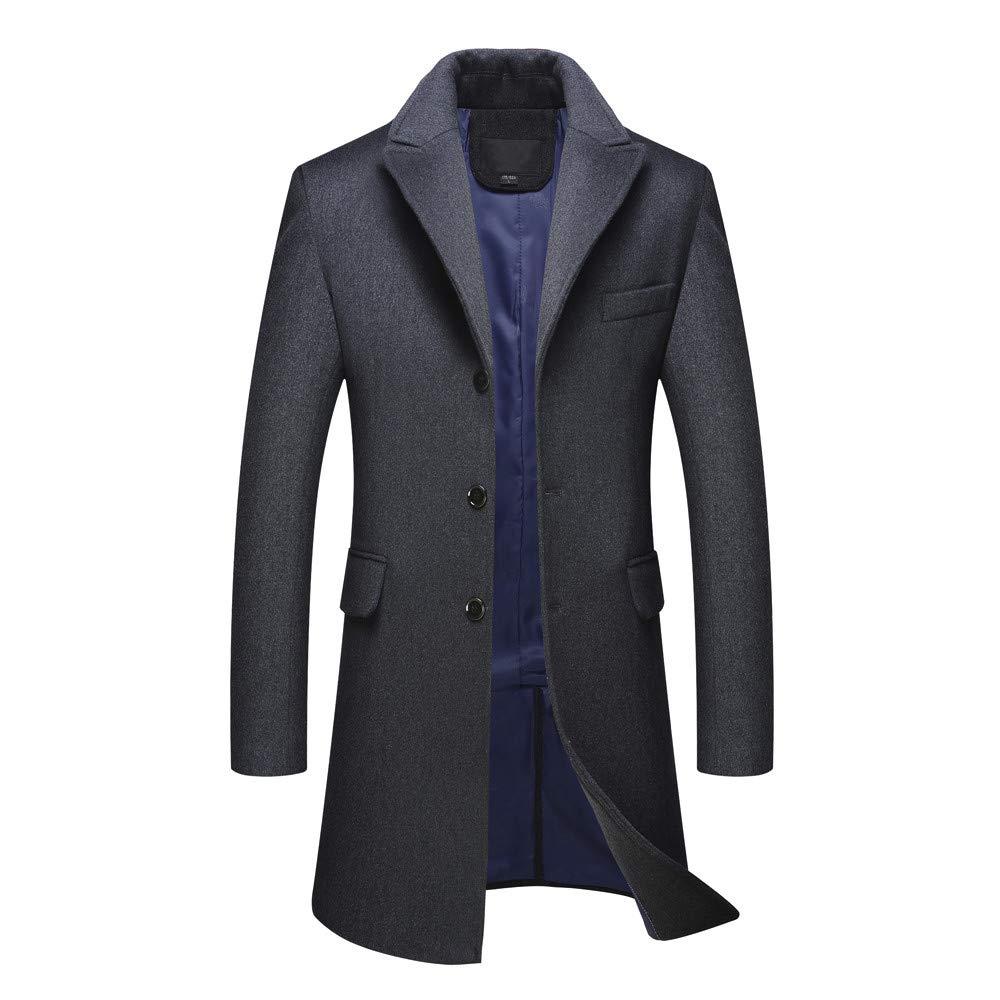 ASHOP - Cappotto Uomo Blazer Uomo Manica Lunga Fashion Slim Fit Blazer Casual da Uomo Grigio Scuro XXX-Large ASHOPcappotto1107S81025272DGL3