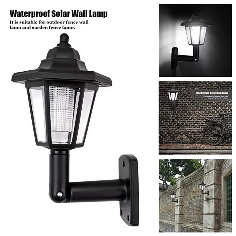 foreverH LED Cast Aluminum Solar Post Light Fixture Cap Lights with 3-Inch Fitter Base for Outdoor Garden Post Pole Mount (Black)