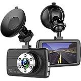 "ShiRui Mini Car Dash Cam, 3.0"" LCD Full HD 1080P 170 Degree Wide Angle Car Dashboard Camera Recorder, Car Blackbox DVR Vehicle Video Recorder Dash Cam for car with G-Sensor, Motion Detection, WDR"