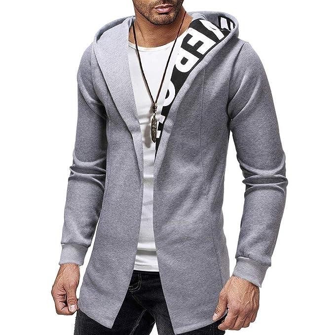 2019 Primavera Chaquetas Hombre Cremallera Casual BBsmile Abrigo Hombre Trench Coat Jacket Cardigan Long Sleeve Outwear Blouse: Amazon.es: Ropa y accesorios