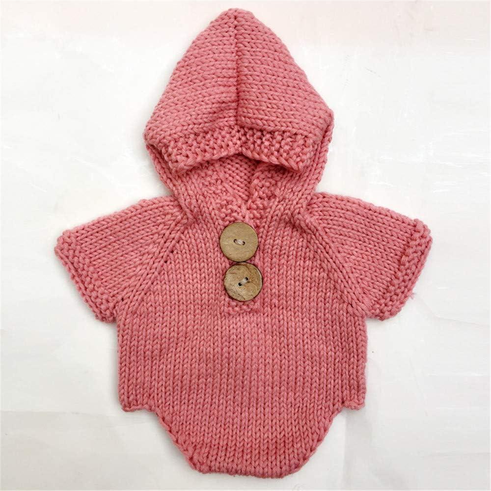 Handarbeit Kost/üm f/ür Jungen und M/ädchen Fotografie handgefertigt Baby Foto-Requisiten f/ür Neugeborene gestrickt
