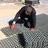Grey TrueGrid Plastic Pavers for Grass or Gravel - Car or Walking Areas - One 500mm Grid - True Products