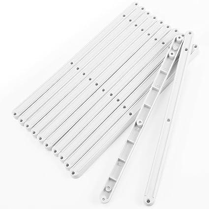 PLASTIC DRAWER RUNNERS 6 PAIRS WHITE