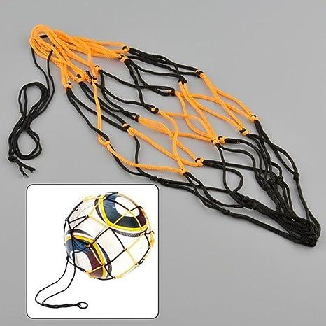 Red de nailon para balones de fútbol y baloncesto: Amazon.es ...
