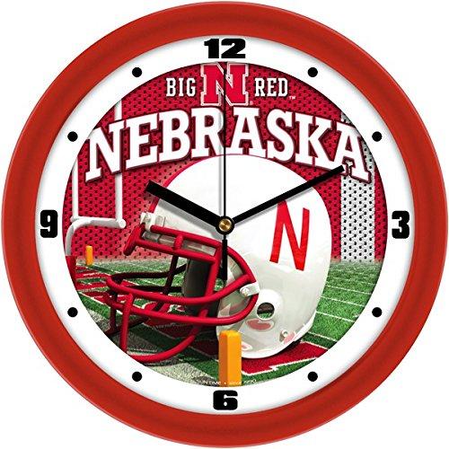 SunTime NCAA Nebraska Cornhuskers Helmet Wall Clock