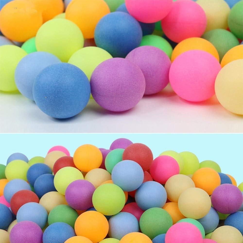 Hpybest - Pelotas de ping pong, tamaño estándar, 25 unidades, varios colores para juegos y publicidad