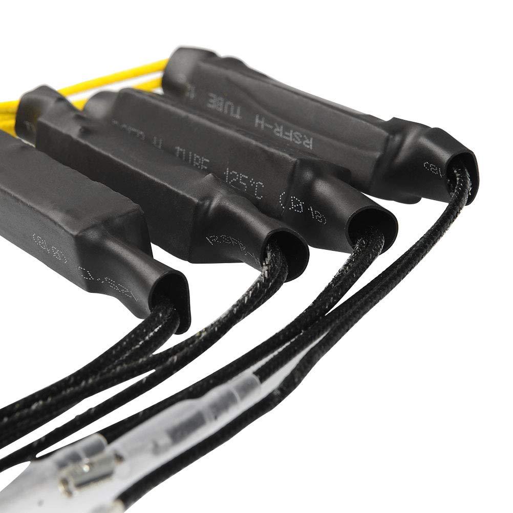 OFNMY Motorrad Blinker Widerst/ände 12V 27W Resistor Adapter f/ür Motorrad 4 St/ück