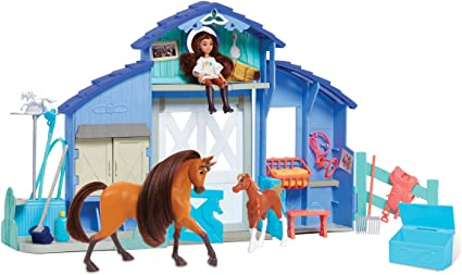 DREAM WORKS SPIRIT HORSE /& STABLE 10 PIECES  SET JUST PLAY 2019