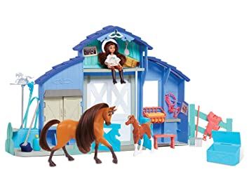 DREAMWORKS SPIRIT équitation Free Classique Horse /& stable Playset NEW
