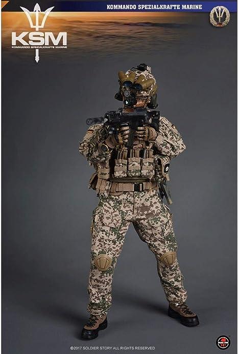 LRWTY 1/6 Ejército Escala figura de acción militar, 12 fuerzas especiales de la Armada Alemana Inch KSM VBSS flexibles macho soldado modelo de recogida de juguetes militares Set de Juegos for Hombre