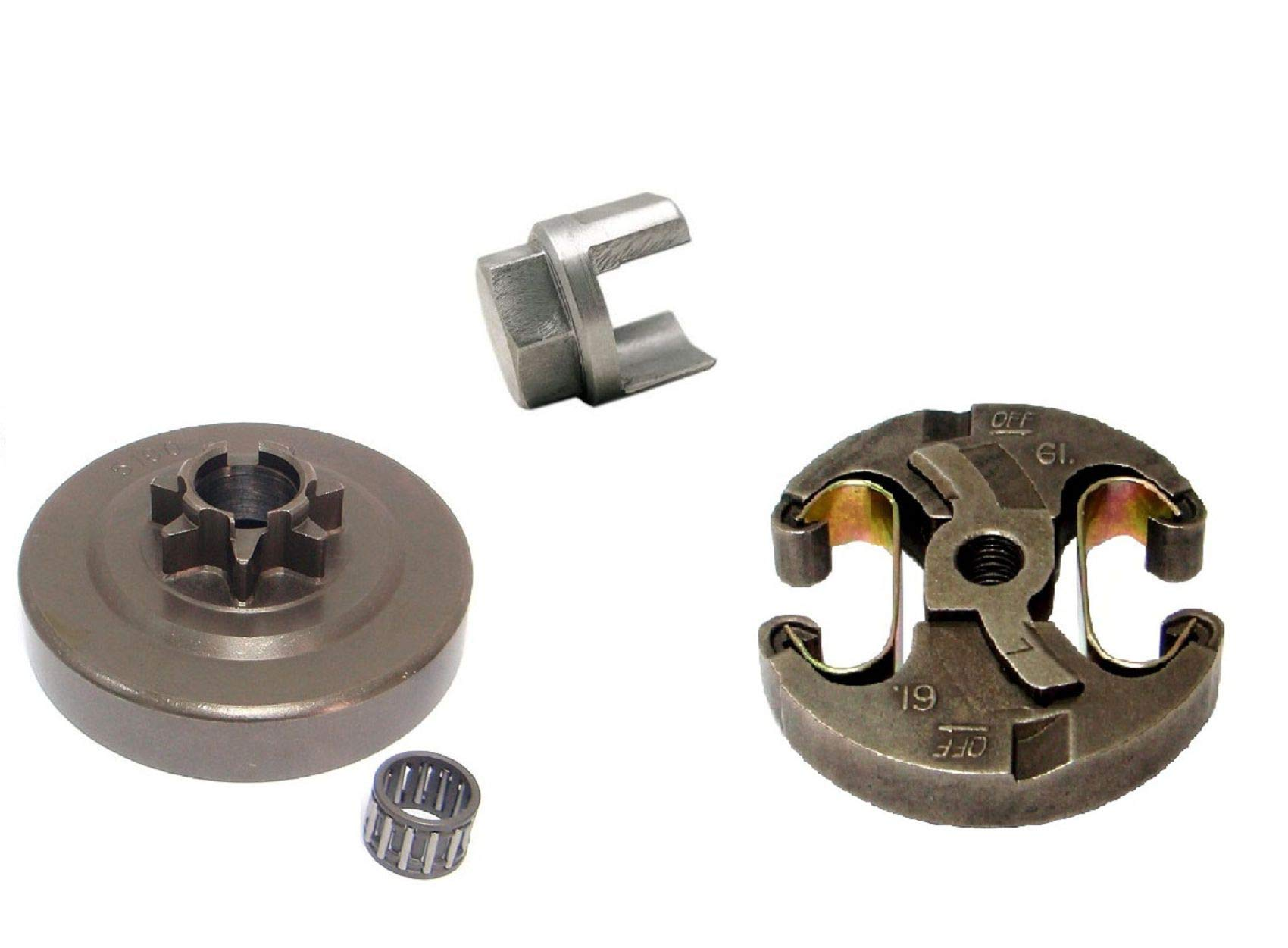 SPERTEK Clutch + Sprocket Drum .325'' 7T + Removal Tool for Husqvarna 455, 460, 461 Rep 537 29 17-02 by SPERTEK
