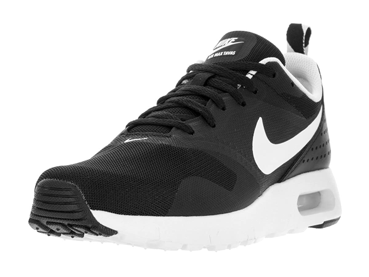 uk availability fc999 838c2 Amazon.com   Nike Youths Air Max Tavas Black White Textile Trainers 39 EU    Running