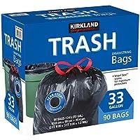 Kirkland Signature - Bolsas para basura con cordón ajustable - 33 galones - Tamaño Xl - (90 unidades)