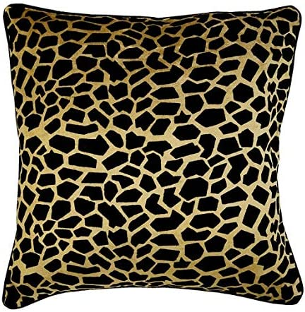 Modern Decorative Throw Pillows Cover, 14 x 14 Animal Theme Velvet Pillow Covers, Square Throw Pillows Cover, Gold Pillow Covers 14×14 inch 35×35 cm – Leopard