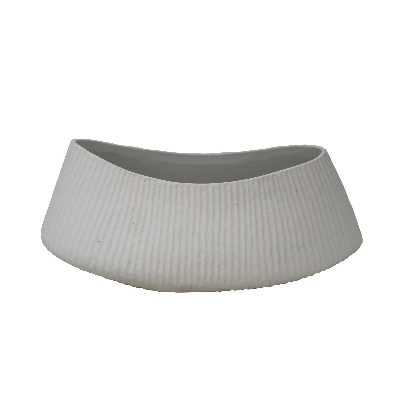 Sagebrook Home 13590-04 Ceramic Vase 12.5 x 5.75 x 5.25 White