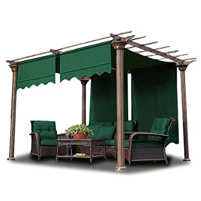 CooPee 15.5x4 Ft Pergola Canopy Cover Replacement with Valance for Structure Waterproof Polyester, 2 Pcs, Green: Garden & Outdoor