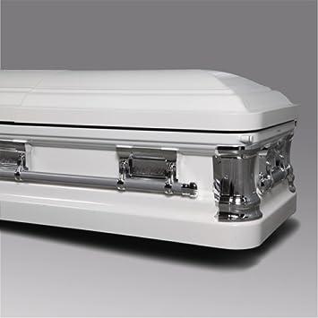 amazon com funeral caskets of texas white white velvet interior