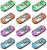 Set of 12 Water Ring Game Machine Arcade Video Children's Kid's Toy Handheld Water Game (Colors May Vary)
